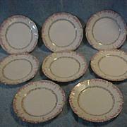 """Set of 8 Haviland Limoges 7 1/4"""" Lunch Sandwich Salad Desert Plates"""