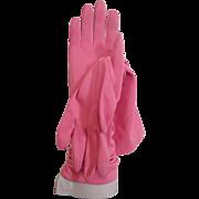 Pink Gloves Vintage 1960s Aris Washable Nylon