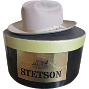 SOLD Stetson Stroliner Cowboy Hat In Box Vintage 1970s Mens Beige Accessory Size 7