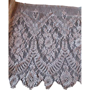 Wide Antique Net Lace Trim 2 Yards 12 Inch Width