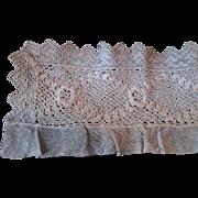 Antique Lace Trim Net Needle Lace Irish Rose 24 Inches Doll Clothing