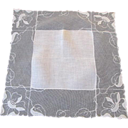 Antique Net Lace Hanky Hankie Bridal Wedding