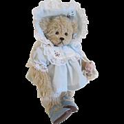 Artist OOAK Teddy Bear Kewpie Doll Vintage 1980s Grandma Lynn Bears NWT