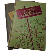 SOLD Family Garden Books Vintage 1940s Illustrated Spring Planting Guides
