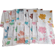 Madeira Floral Hanky Hankies Deadstock Spring Flowers Mothers Day Gifts