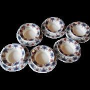 Limoges France Ramekin Saucer Set Of 6 Union Ceramique UNC154