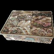 Mexico Silver Alpaca Abalone Shell Box