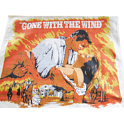 SOLD Gone With The Wind Movie Calendar Vintage 1970s Linen Wall Hanging