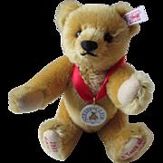 SOLD Steiff Teddy Bear Limited Edition 420320 10 Years Steiff Club Jointed Mohair