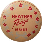 Advertising Tin Vintage 1930s Vanity Heather Rouge Oramber Puff