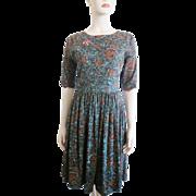 Vintage 1950s Floral Day Dress