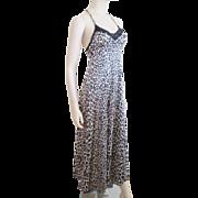 Sexy Vanity Fair Leopard Negligee Vintage 1960s Maxi Nylon Lace
