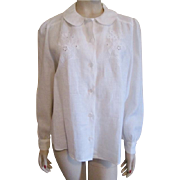 Saks Fifth Avenue Blouse Vintage 1980s Marian Maged Size 14