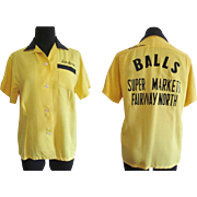 Authentic Vintage Bowling Shirt Vintage 1950s Dunbrooke Rockabilly