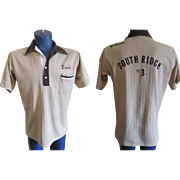 Hilton Bowling Shirt Vintage 1970s Mens Tunic