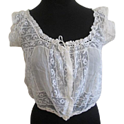 Antique Victorian Blouse Ivory Gauze Lace