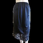 Nylon Half Slip Lace Vintage 1980s Black Vanity Fair Lingerie