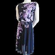 Vintage 1970s Sheer Floral Dress