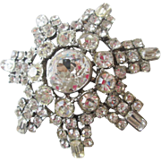 Dazzling Vintage 1950s Rhinestone Pin Brooch Jewelry Accessory