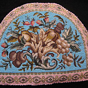 SOLD Superb Antique Victorian Beadwork Tea Cozy Cosy, Double Sided