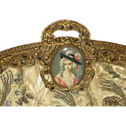 SOLD 1920's French Purse w/Hand Painted Cameo Clasp & Marcasites-For Restoration