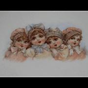 Antique Frances Brundage Bonnet Babies China Tea Trivet