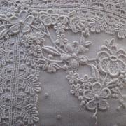 SOLD SALE PENDING-DO NOT BUY-Vintage 1970's White Net Lace Appliqué Pillow