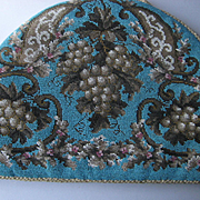 Superb Antique All Beadwork Tea Cozy w/Grapes, Double Sided