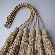Seven 1900's French Crochet Tassels