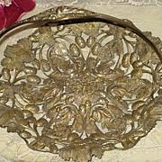SALE Ornate Victorian Basket w/Handle-Butterflies, Acorns, Leaves