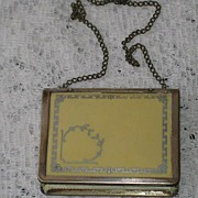 Vintage C. 1911 Celluloid & German Silver Dance Purse w/Texas Ribbon