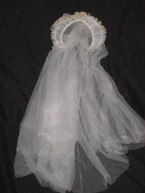 1930 S Stand Up Netted Wedding Tiara W Wax Orange Blossoms