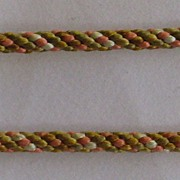 Two Pieces Antique Multi-Color Cording From Drawstring Purse