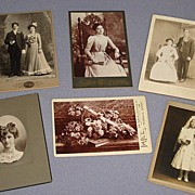 6 Victorian Cabinet Card Photos-Wedding, Graduation, Communion, Others