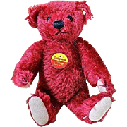 "Sweet 6"" Red Steiff Teddy Bear"