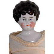 """REDUCED Sweet 10 1/2"""" Antique China Head Lady"""