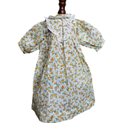 Antique Floral Print Dress for Doll