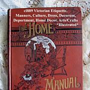 C1889 Etiquette Book The Home Manual Opium Corsets Beauty Home Décor Hygiene Cupid Illustrate