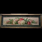 SOLD C1895 A Study of Roses Yard Long Print Paul de Longpre Chromolithograph Art Interchange C