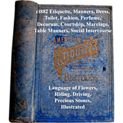 SOLD c1882 American Etiquette and Rules of Politeness Book Decorum Deportment Toilet Table Man