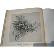 SOLD c1893 Five Paul de Longpre Flower Print Bookplates Anthropomorphic Clematis Orchid Pussyw