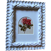 SOLD c1890's Paul de Longpre Roses Print Frame Chromolithograph