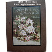 SOLD c1914 Flower Pictures Book Roses Lilacs Maud Angell Gorgeous Color Print Plates