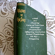 1898 Relations of the Sexes Book Duffey Marriage Sex Prostitution Polygamy Offspring Limitatio