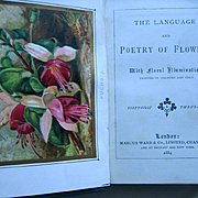c1884 Language Poetry of Flowers Book 6 Color Plates Floral Illuminations Rose Pansy Fucshia A