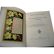 c1877 Bards and Blossoms Poetry History of Flowers Frederick Edward Hulme First Edition Fine .