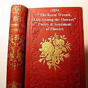 c1854 The Rural Wreath Life Among the Flowers Poetry Sentiment Language of Flowers Victorian B
