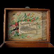 SOLD c1895 Antique Seed Box Mandeville King Paul de Longpre Print Chromolithograph Flower Flor
