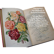 C1900 Beetons Dictionary of Every Day Gardening Book Horticulture Eight Color Plates Roses ...