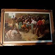 c1897 An Old Time Cake Walk Negro Black Americana Print Pickaninny African American Dance ...